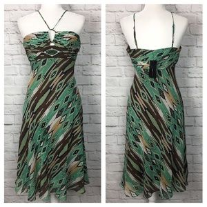 NWT BCBGMaxAzria | Santa Fe Striped Silk Dress